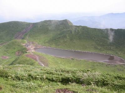 秋田駒ヶ岳頂上から