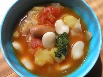 白花豆のトマトスープ