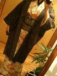 姫小紋に羽織