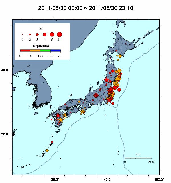 気象庁 地震