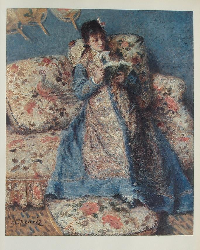 読書するモネ夫人