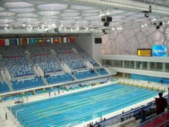 北京の水泳競技場