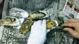 牡蠣殻付きむく