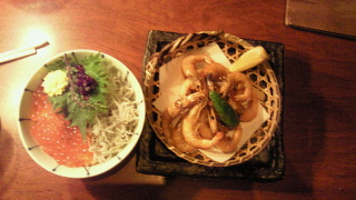 しらすイクラ丼とシバエビ5.2