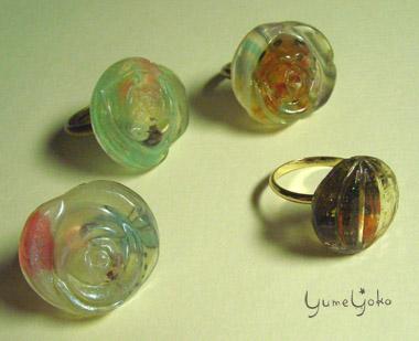 レジン指輪1