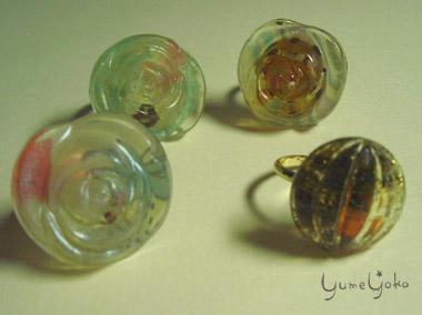 レジン指輪2