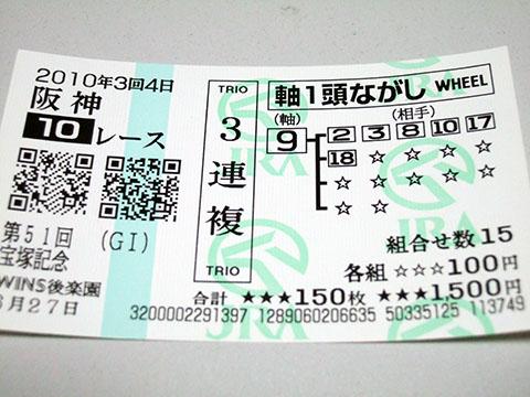 第51回 宝塚記念馬券