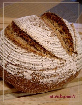 三段階法フォルサワーでライ麦パン080830_01