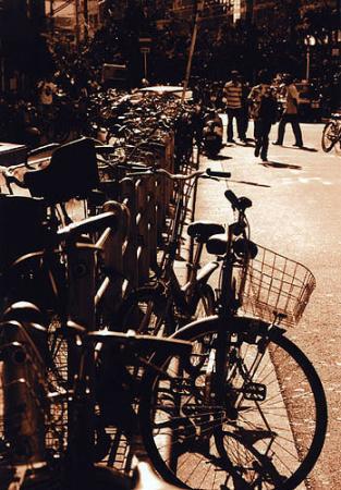 セピア色の自転車
