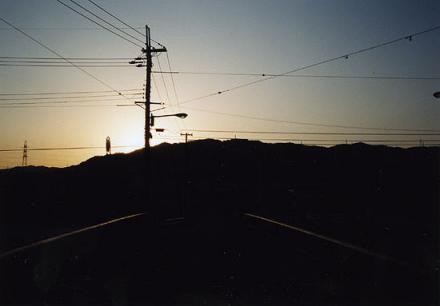 光にあつまる電線