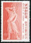 韓国・金剛力士(赤)