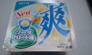 20090603 ロッテ 爽 ソーダフロート味(期間限定)