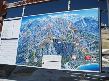 Heavenly Ski map
