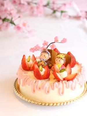 ローズホテル横浜 ひなまつりケーキ