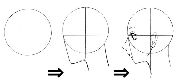 横向きの描き方