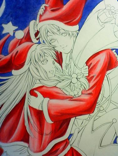 クリスマスイラスト 塗り2