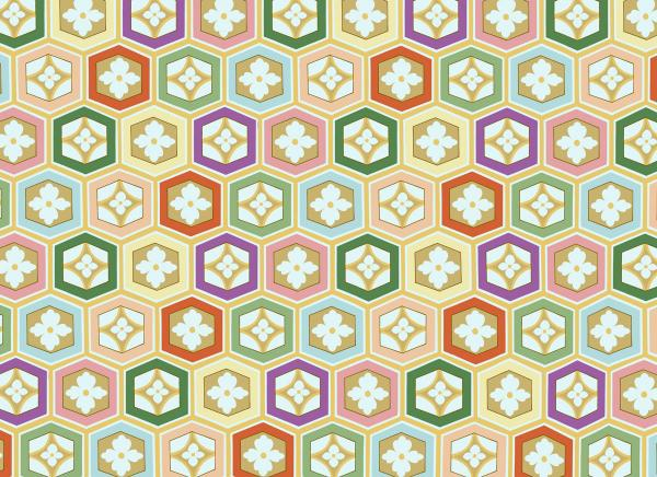 素材 亀甲パターン