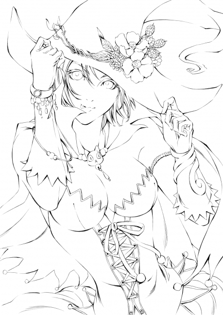 魔女っこアリス 線画