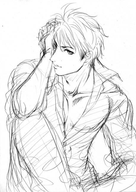 閻ちゃん黒シャツ ラフ2