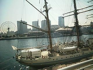 神戸、帆船