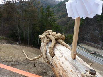 木落とし坂 模擬御柱
