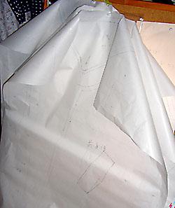 トレンチの型紙