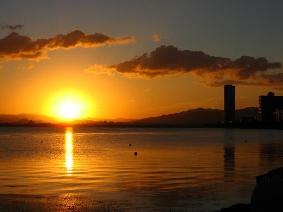 琵琶湖の夜明け3