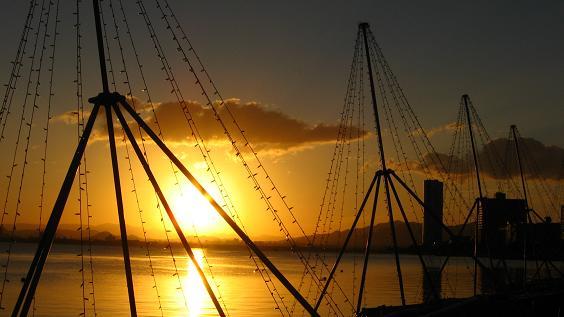 琵琶湖の夜明け4
