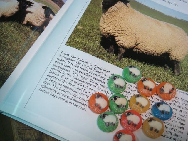 羊のボタン