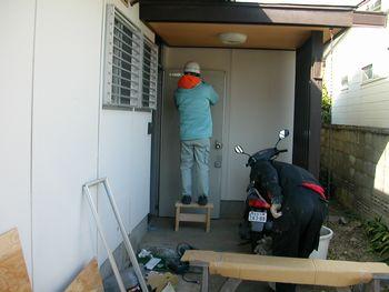 ドア工事中