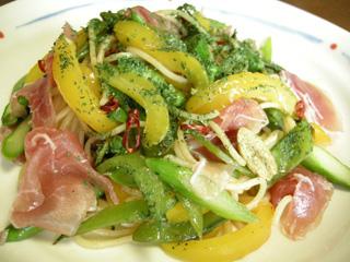 春野菜のペペロンチーノ