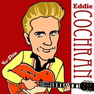 Eddie Cochran caricature