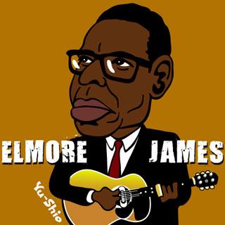 Elmore James caricature