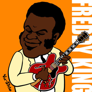 Freddy King caricature