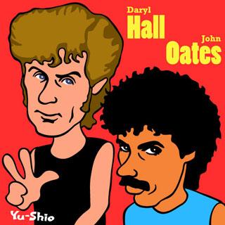 Daryl Hall & John Oates Caricature