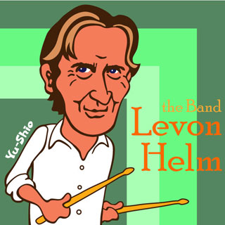 Levon Helm Caricature