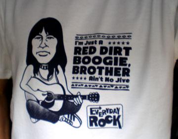Jesse Ed Davis EverydayRock T Shirt Caricature