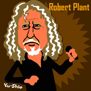 Robert Plant caricature