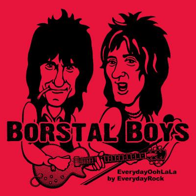 Ron Wood Rod Stewart Faces  EverydayRock T Shirt