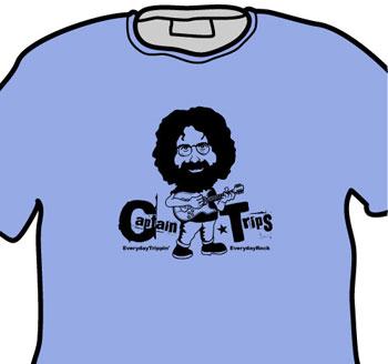 Jerry Garcia Grateful Dead EverydayRock T Shirt Caricature