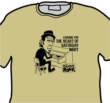 Tom Waits EverydayRock T Shirt Caricature