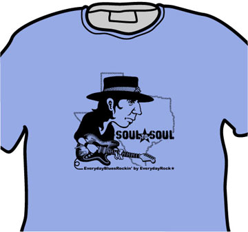 SRV Stevie Ray Vaughan EverydayRock T Shirt