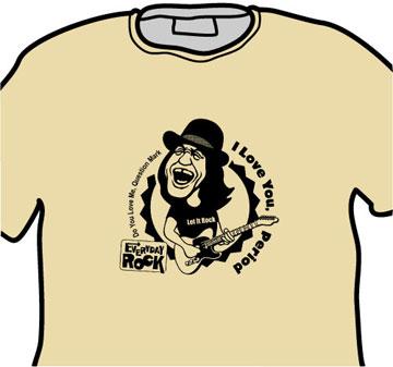 EverydayRock T Shirt Dan Baird Caricature