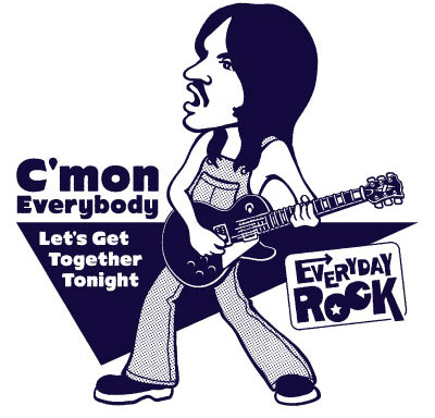 EverydayRock T Shirt Steve Marriott Humble Pie caricature