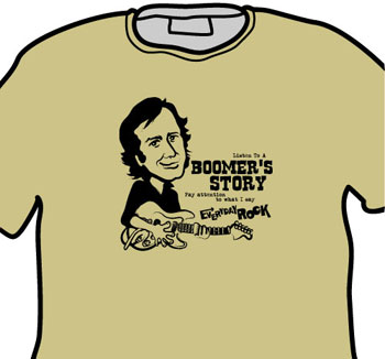 Ry Cooder EverydayRock T Shirt Caricature