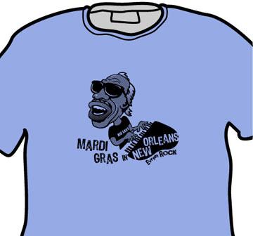 EverydayRock T Shirt Professor Longhair Caricature