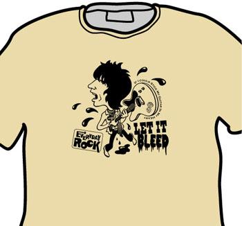 Keith Richards Rolling Stones EverydayRock T Shirt Caricature