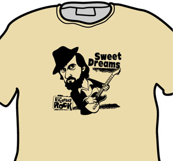 Roy Buchanan EverydayRock T Shirt Caricature