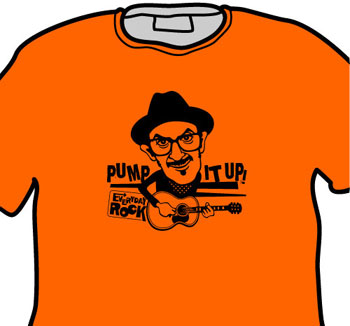 Elvis Costello EverydayRock T Shirt Caricature