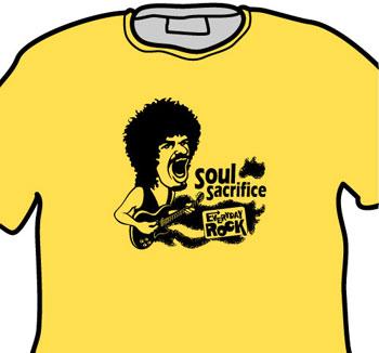 Carlos Santana EverydayRock T Shirt Caricature